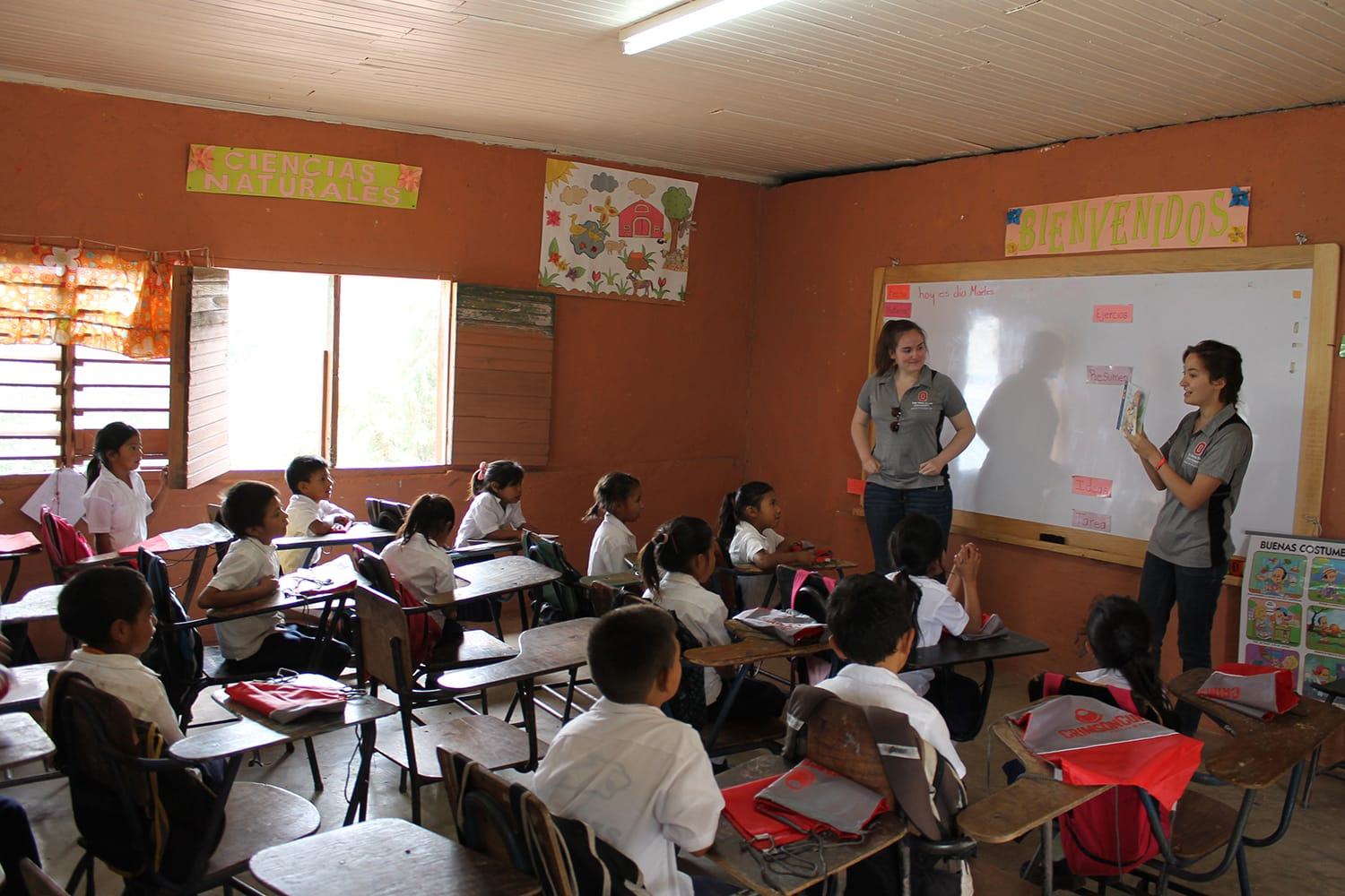Crimson Cup   OSU students conduct classes in El Socorro