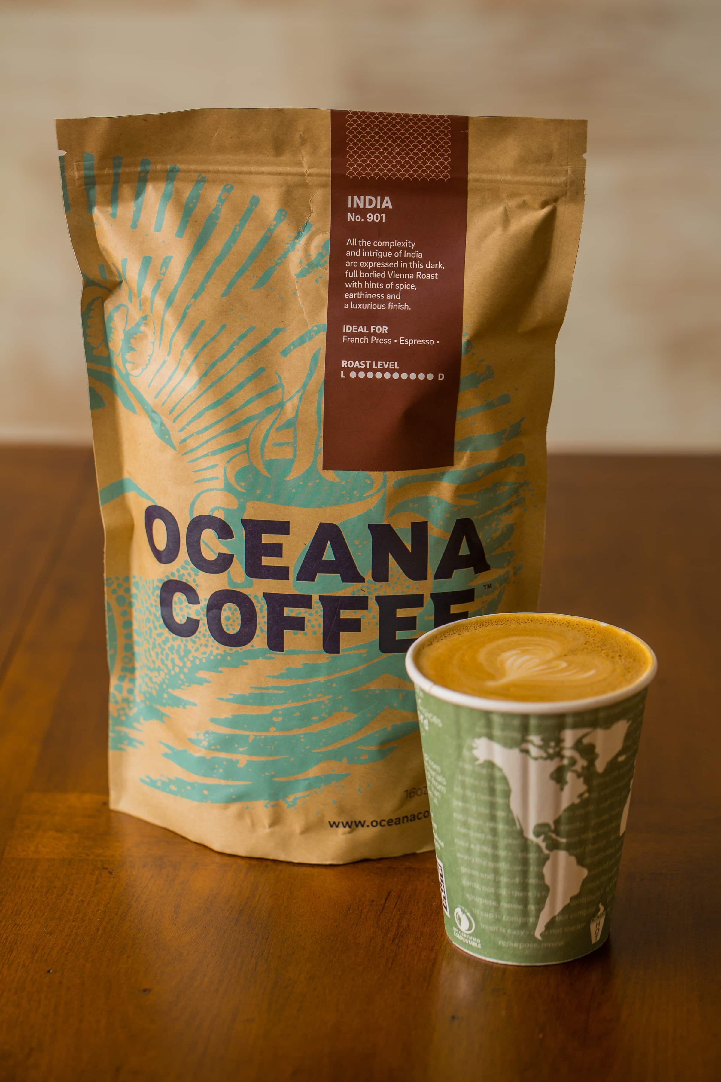 Oceana Coffee Bag   Latte by Libby Vision