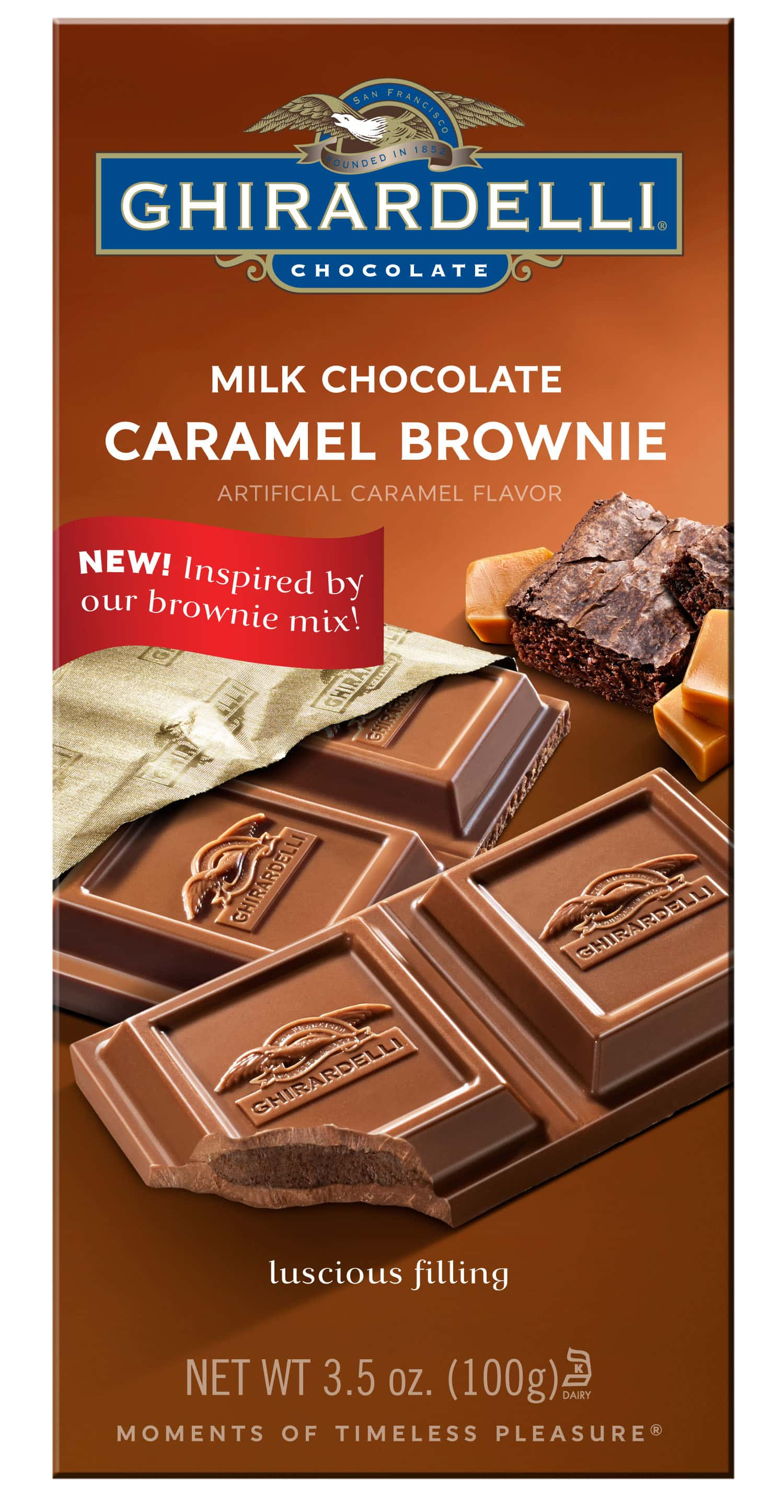 Milk Chocolate Caramel Brownie Bar