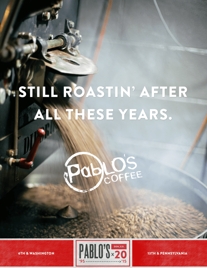 Pablo's Coffee Celebrates 20th Anniversary