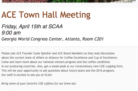 ACE Town Hall Meeting at SCAA