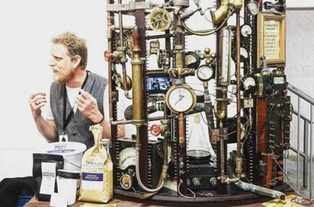 Professor Harris' Steampunk Coffee Machine voted Most Innovative Product at London Coffee Festival 2016