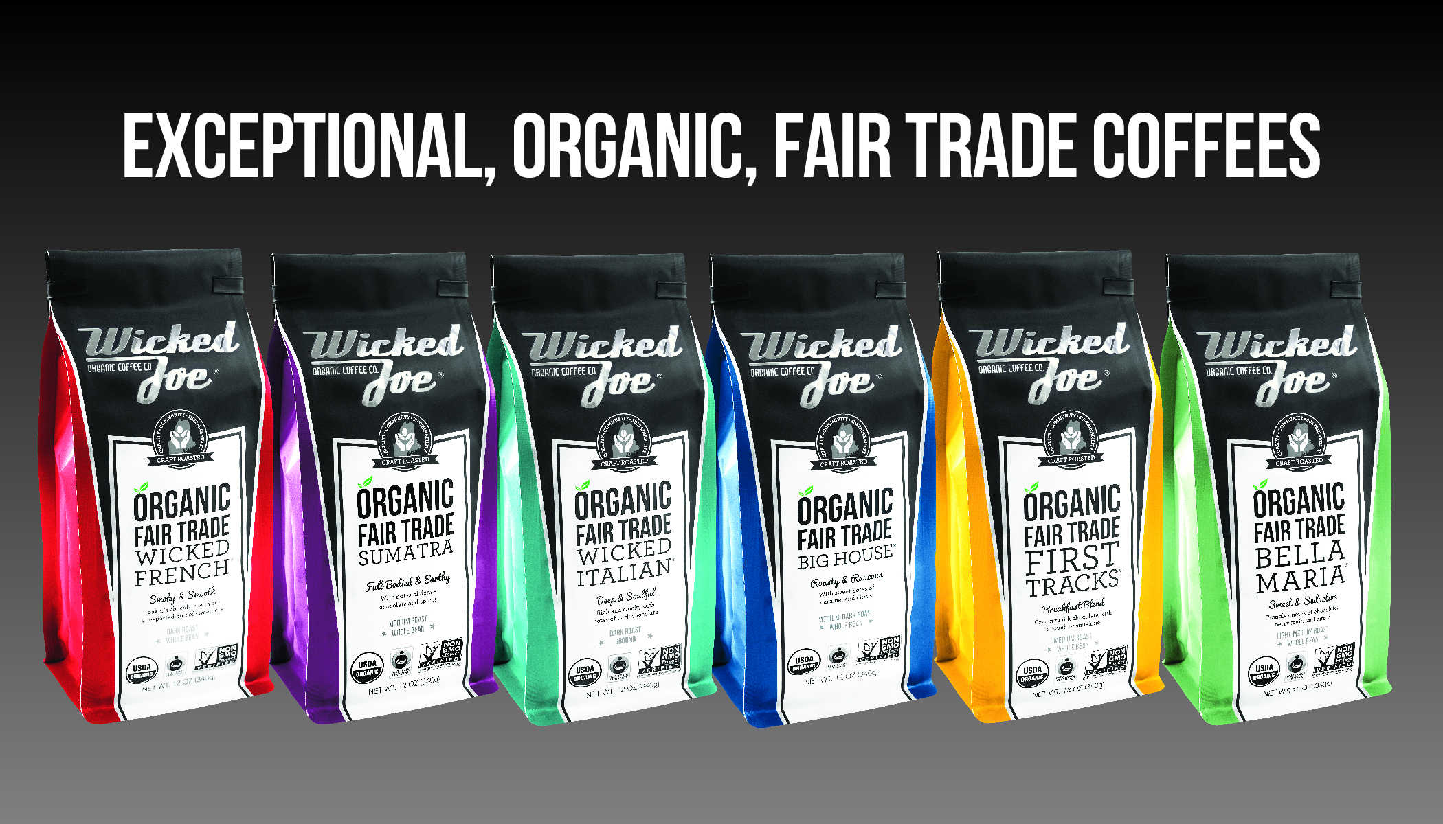 Amber Caron WJC.BagsLineUp.v1 - Wicked Joe Organic Coffees Celebrates New Look