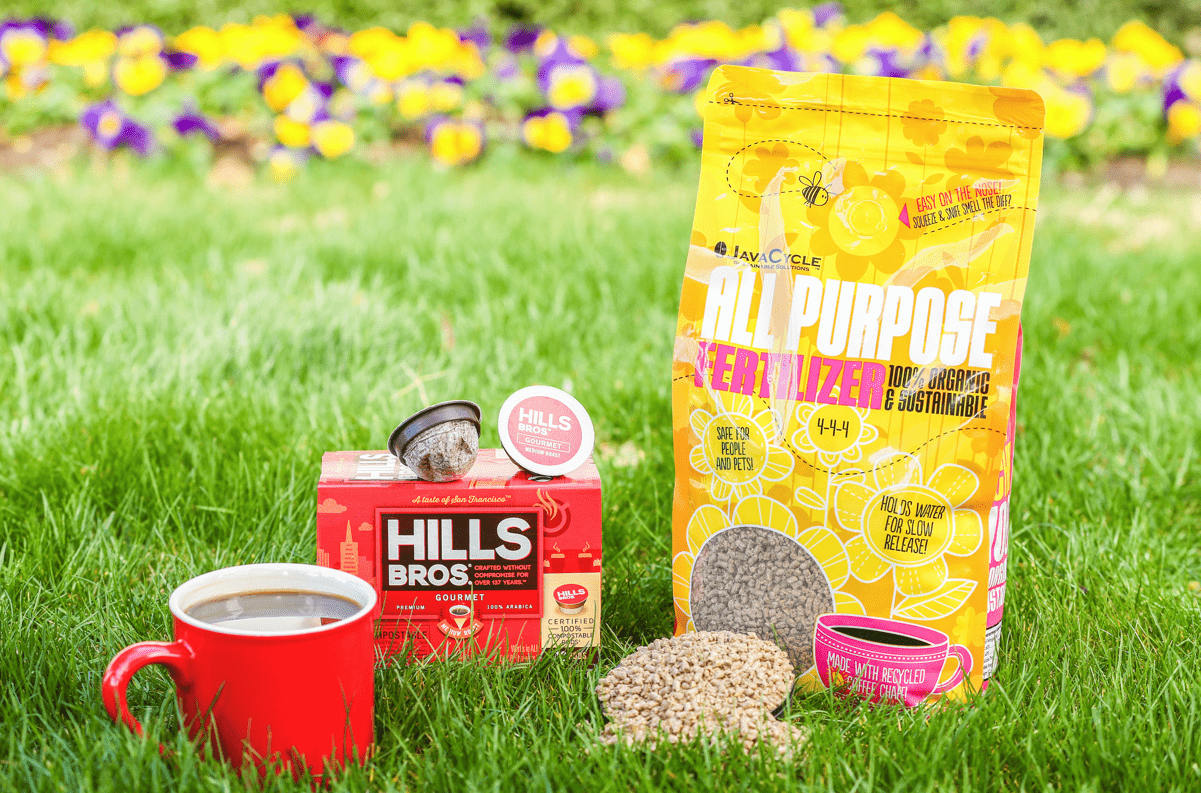 Kevin Gaydosh JavaCycleHillsBrosProduct Shot - MZB, JavaCycle partnership creates sustainable, organic, all-purpose garden fertilizer made with coffee chaff
