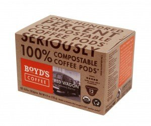 Lisa Hill Compostable RedWagon 12ct SC 300x251 - Boyd's Coffee Launches 100 Percent Compostable Pods