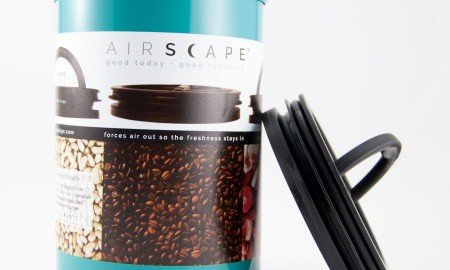 Planetary Design AIRSCAPE TURQUOISE with LID DSC 0239 1 1 450x270 - Best Coffee Bean Storage Container Gets Facelift With New Color, Retail Label & Brand Logo