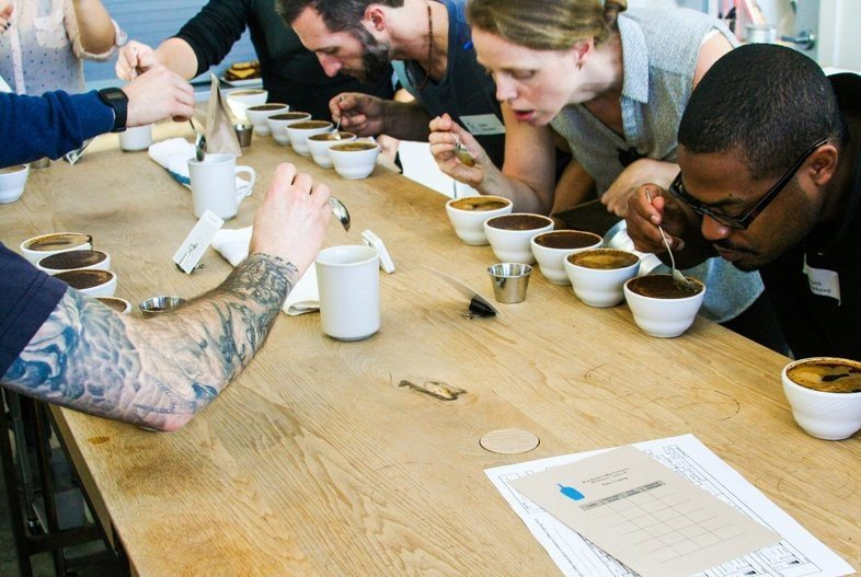 Shannon Gomes fci coffee bluebottle cupping small 003 1 - 4-Day Coffee Roasting & Retail Course