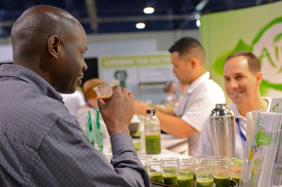 Aaron Kiel WTE Pic 1 - Sri Lanka Tea Board, International Tea Importers, QTrade Among Leading Organizations at World Tea Expo