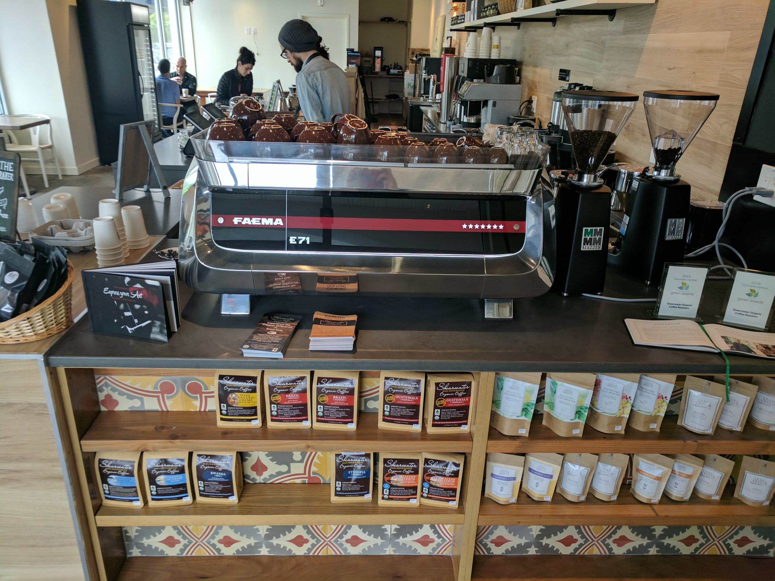 Shearwater Organic Coffee Roasters Opens Coffee Bar