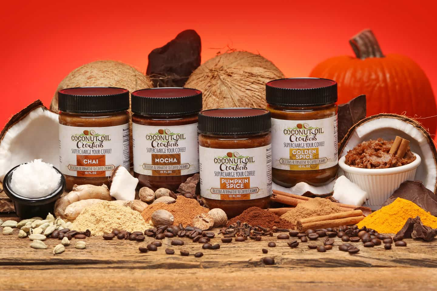 Dave Bryk rsz 507a9352 all 4 - Introducing Coconut Oil Creations: Supercharge Your Coffee and more with Delicious, Spice Infused Coconut Oil