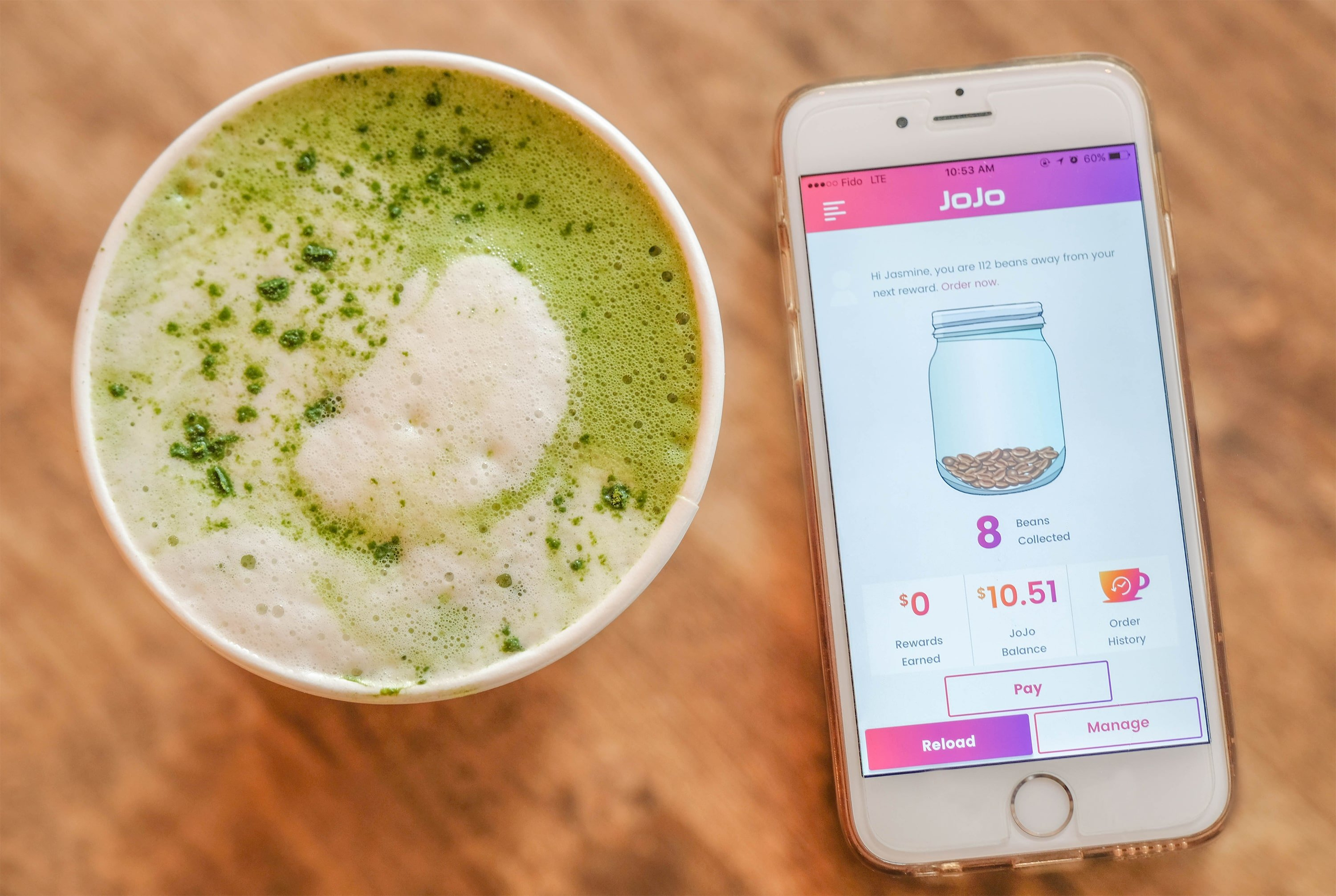 JoJo - New App Allows Local Coffeeshops To Give Preorder Option And Rewards To Clients