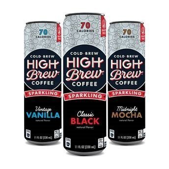 morgan golding Sparkling 3cans Mockup - HIGH BREW COFFEE ADDS FIZZ TO THE BUZZ WITH NEW SPARKLING COLD BREW