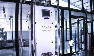 Maxime Boegler sovda sorter 300x180 - Torch Coffee Invests in Sōvda Coffee Equipment as they launch New Pearl Mini Color Sorter