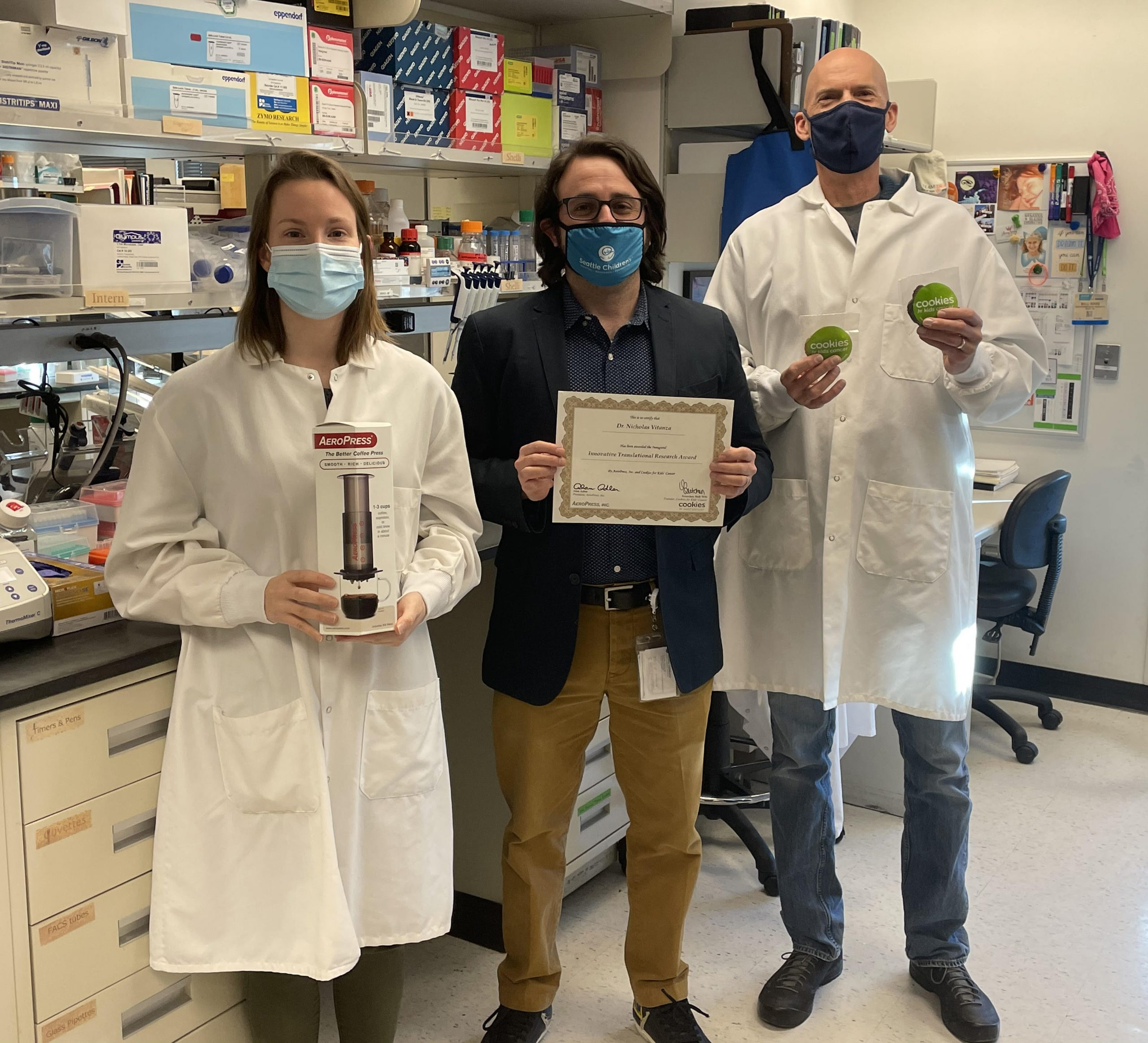 AeroPress, Inc. Announces Winner of $100,000 Cookies for Kids' Cancer Innovative Translational Research Award