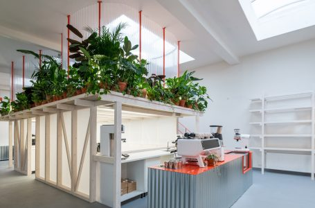 Kogaa uses construction waste to build community coffee shop in Prague