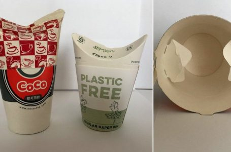 Could this lidless paper cup cut coffee waste?