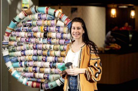 Taranaki woman crafts single-use coffee cup wake-up call